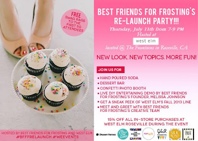 Reminder: Best friends for Frosting's Re-launch Party at West Elm This Thursday!