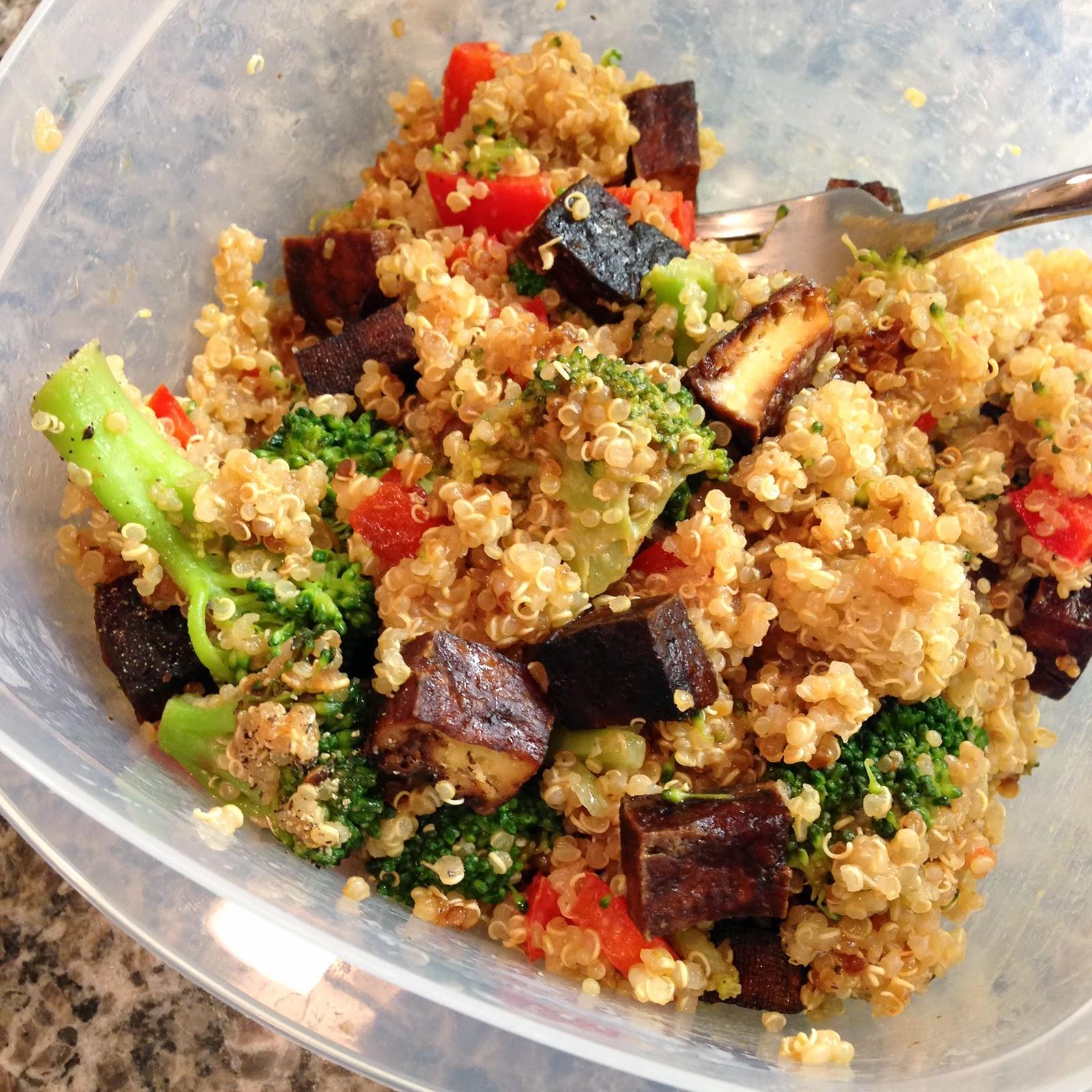 Peanutty Quinoa, Tofu, and Broccoli Bowls