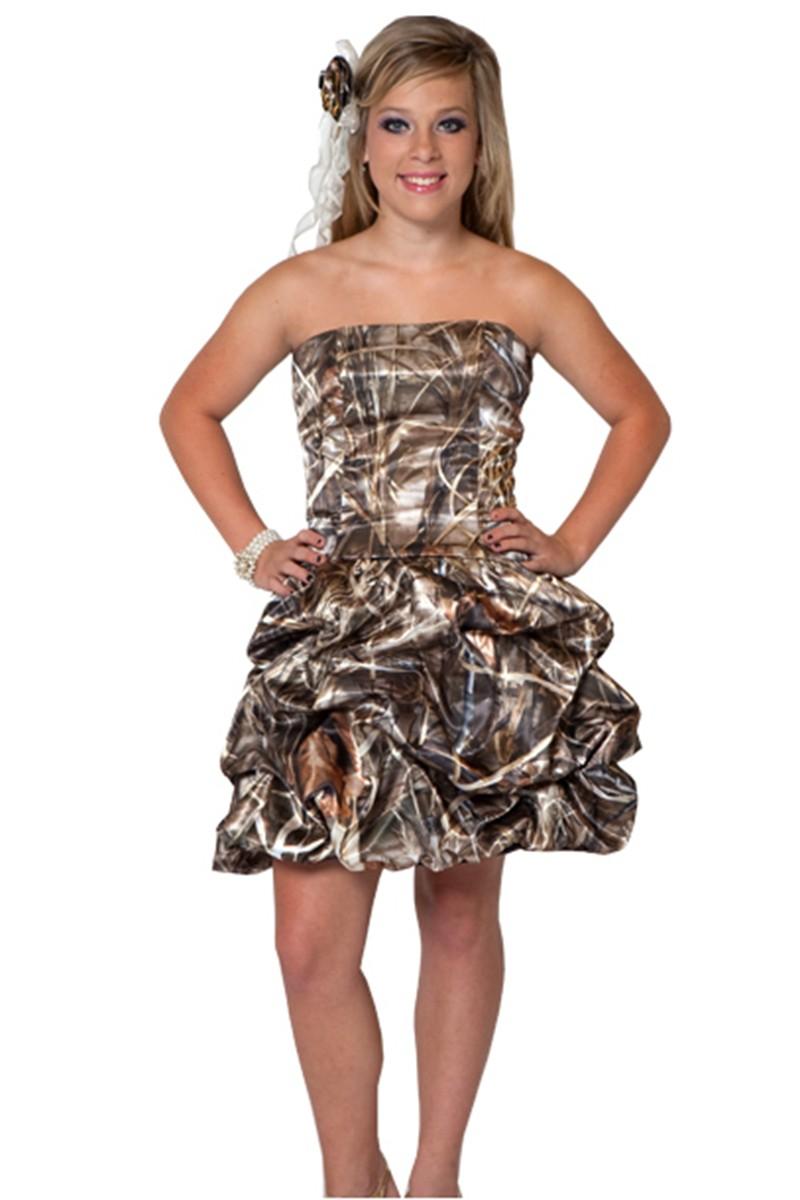 Camo Dresses for a Wedding, Country Wedding Dresses Camo, Sexy Camouflage Wedding Dresses, Short Camo Homecoming Dresses, Cheap Realtree Camo Dresses, Discount Mossy Oak Wedding Dresses, Camouflage Bridesmaid Dresses, Discount Camo Wedding Dress