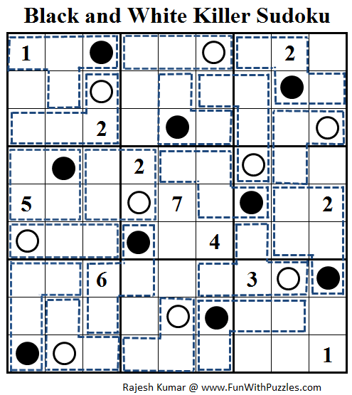Black and White Killer Sudoku (Daily Sudoku League #102)