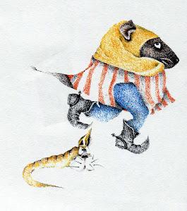 Gnomo y su mascota