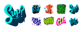 Tons of Text Facebook Stickers
