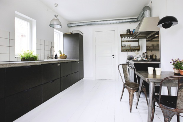 Kok Industridesign : Fina kok som gor i svart och vitt! Ett horligt lagom industrikok
