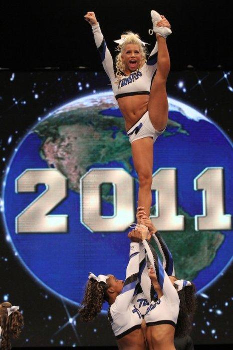 Cheerleading Stunts Heel Stretch