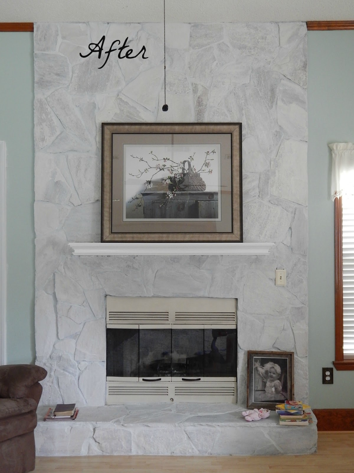 Flagstone Fireplace all things beautiful: fireplace makeover 2!
