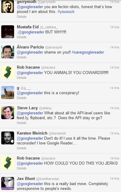 Google Reader - Twitter