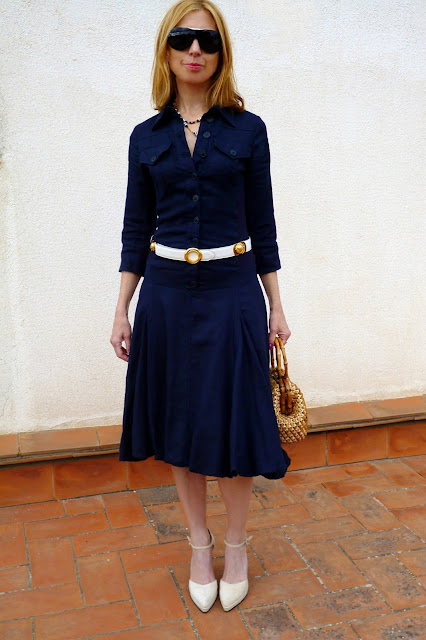 foto delante entero vestido Isabel de Pedro