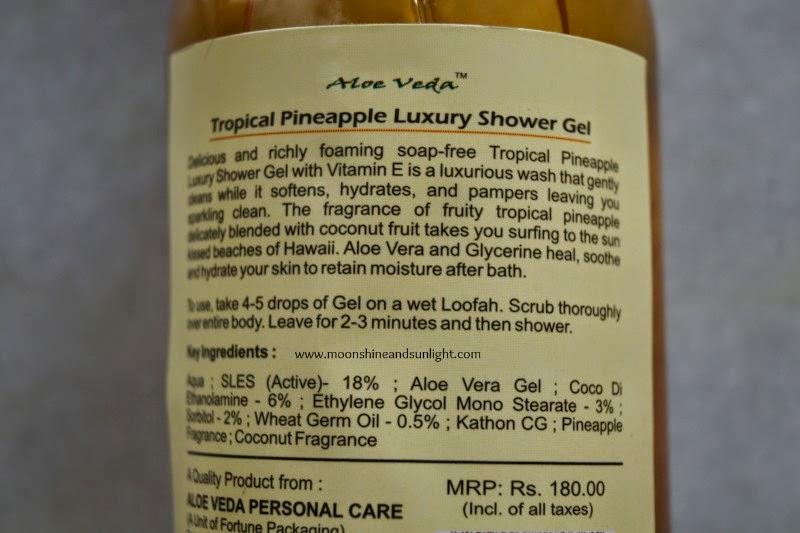 Aloe Veda Tropical pineapple Luxury shower gel review