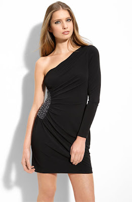 Laundry by Shelli Segal One Shoulder Matte Jersey Dress