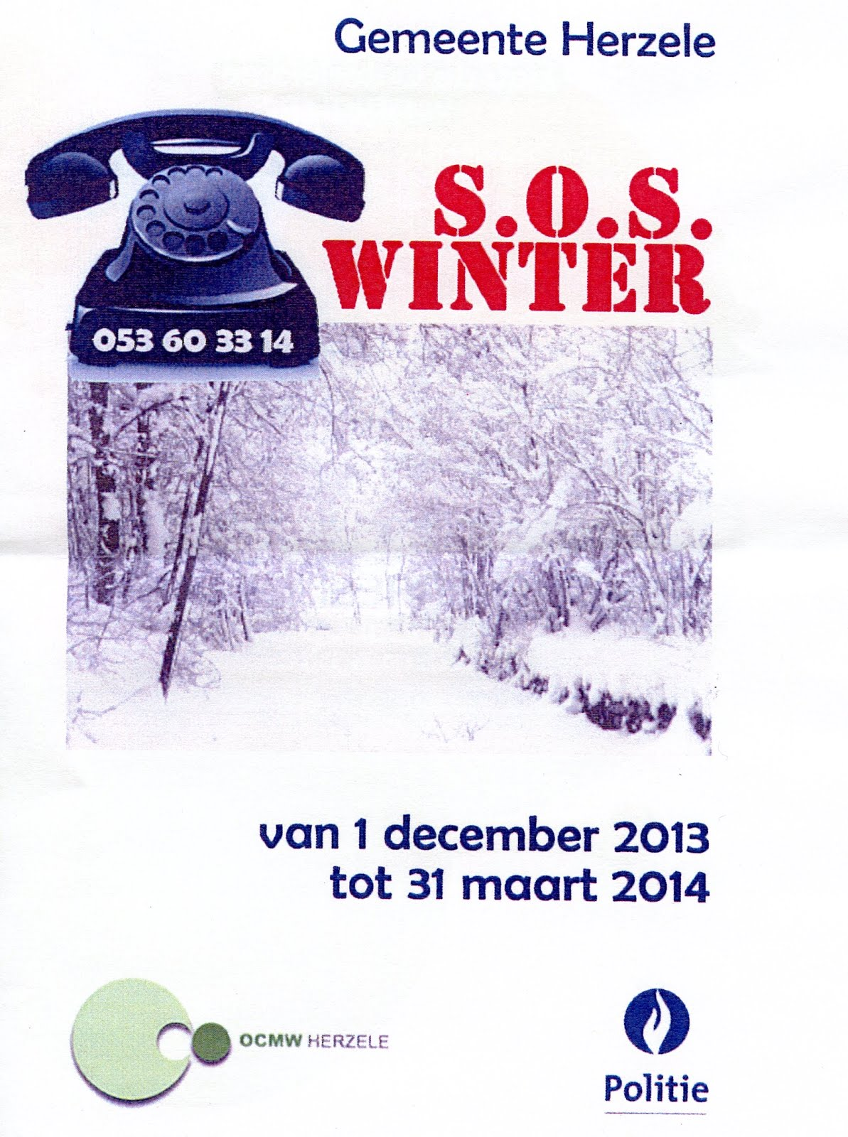 S.O.S WINTER te HERZELE
