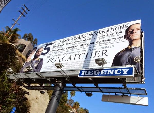 Foxcatcher Oscar nominee billboard