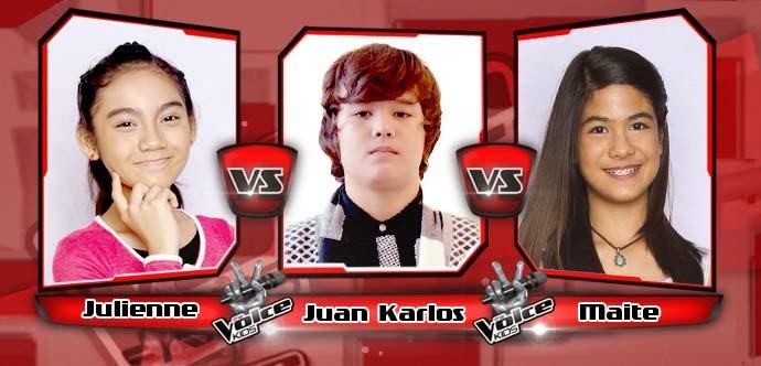 Battle Round between Juan Karlos, Maite Zubiri and Julienne Echavez on The Voice Kids Philippines Team Bamboo Battle Rounds