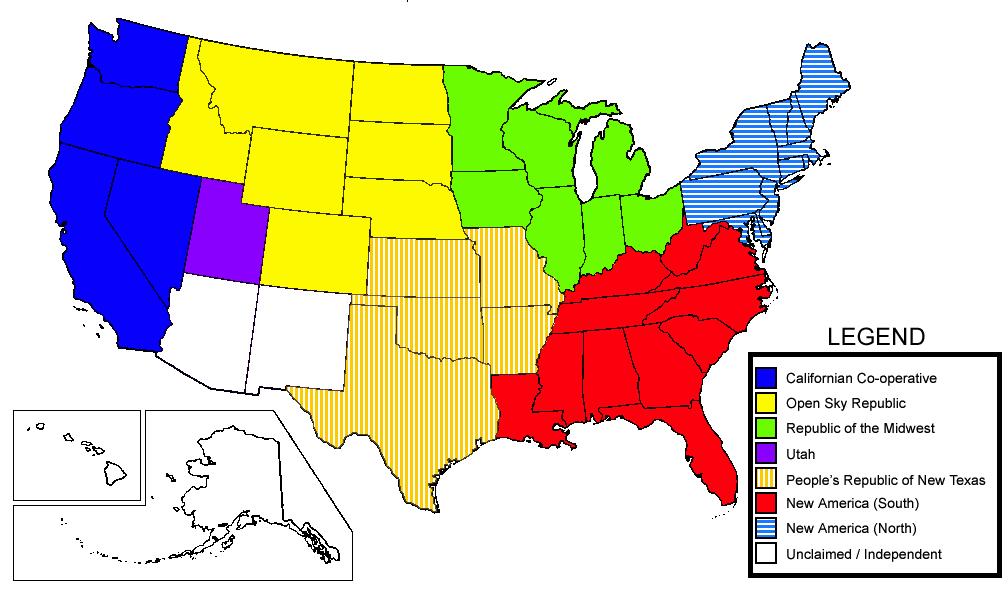 American Civil War States Map American Civil War Battle of
