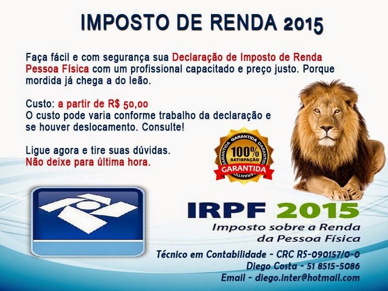 Imposto de Renda Pessoa Física 2015 em Porto Alegre