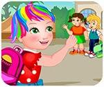 Candy đến trường, game ban gai