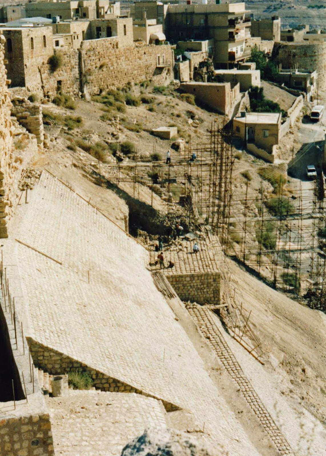 The view from Kerak Castle 1990.