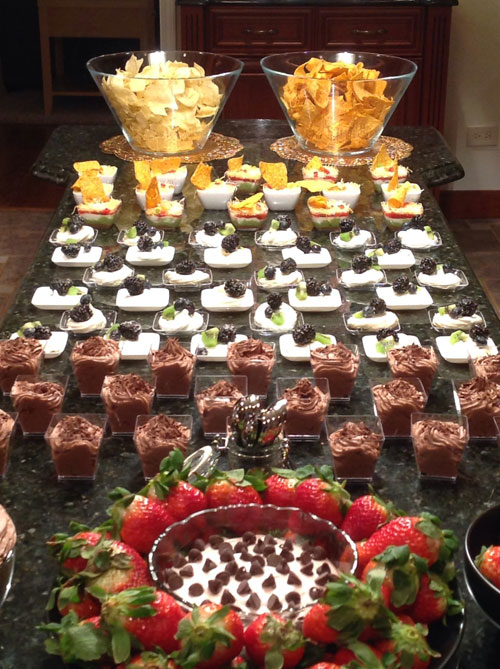 Elegant canapes for a sweet sixteen party for Cheap canape ideas