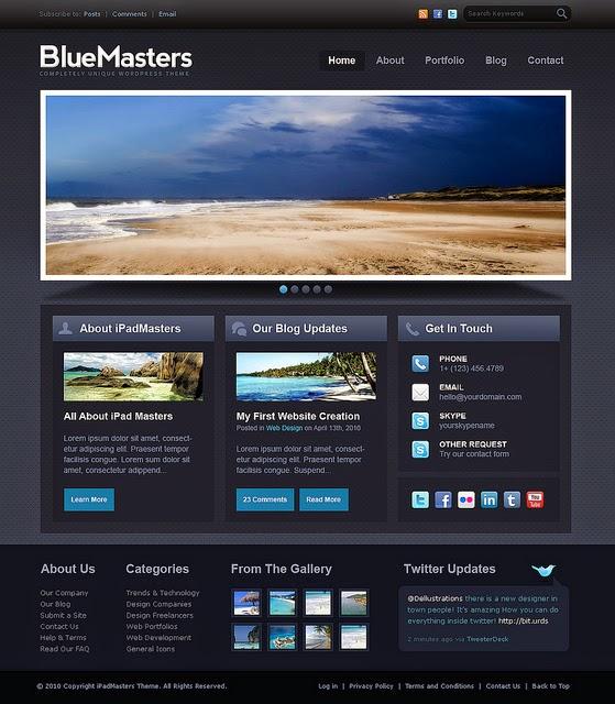 BlueMasters drupal theme