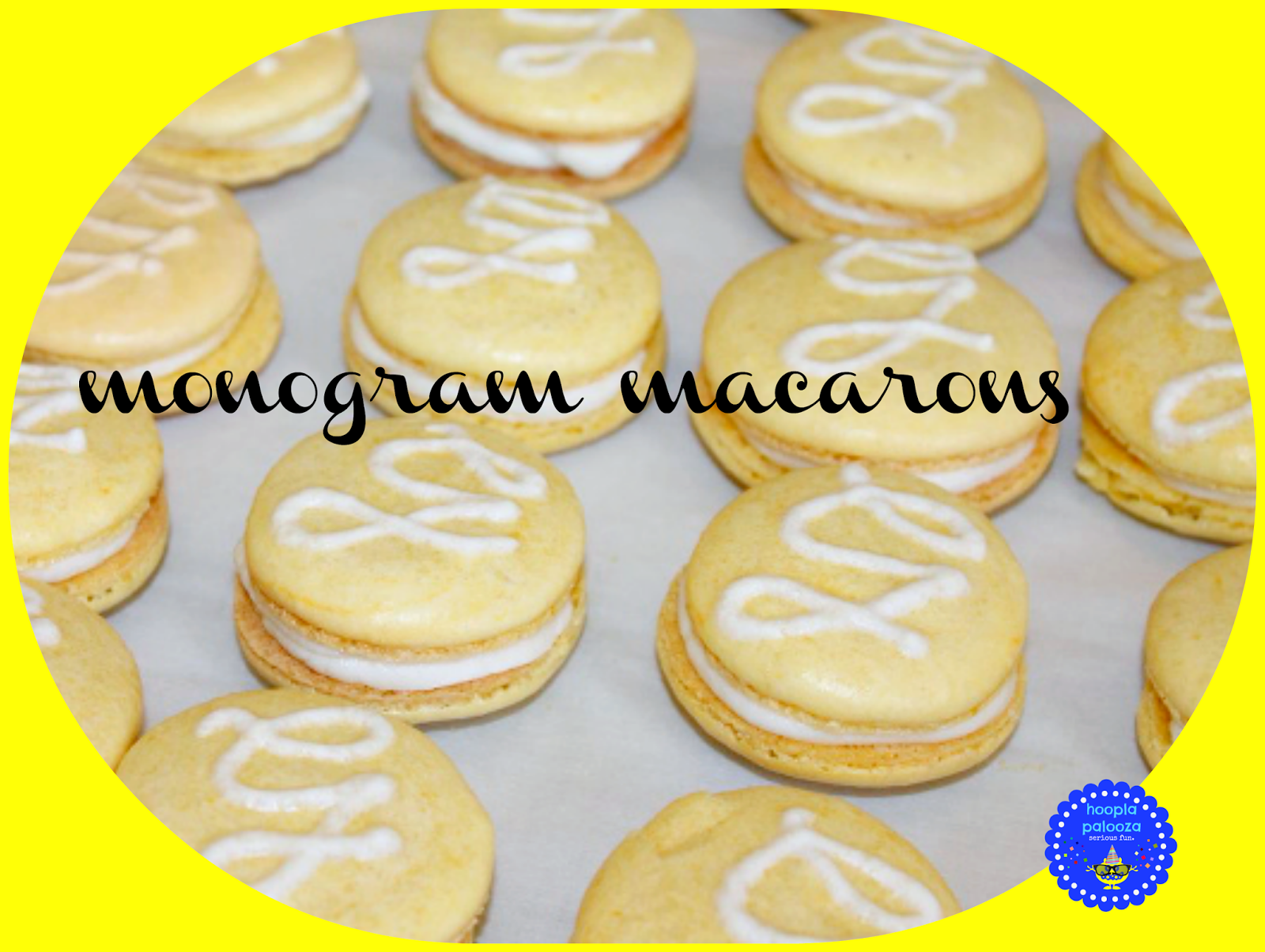 Monogram Macarons, shared by Hoopla Palooza