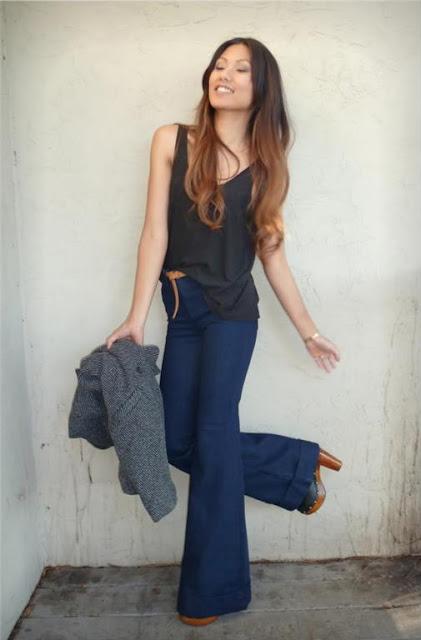 Girls Bell Bottom Jeans