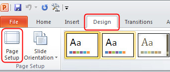 how to set up powerpoint for prinint