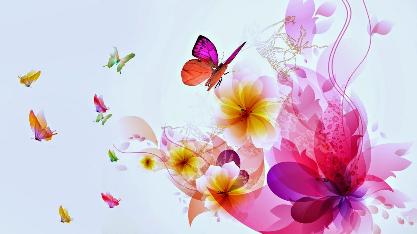 Colorful butterfly designs background for desktop abstract for Butterfly wallpaper for walls