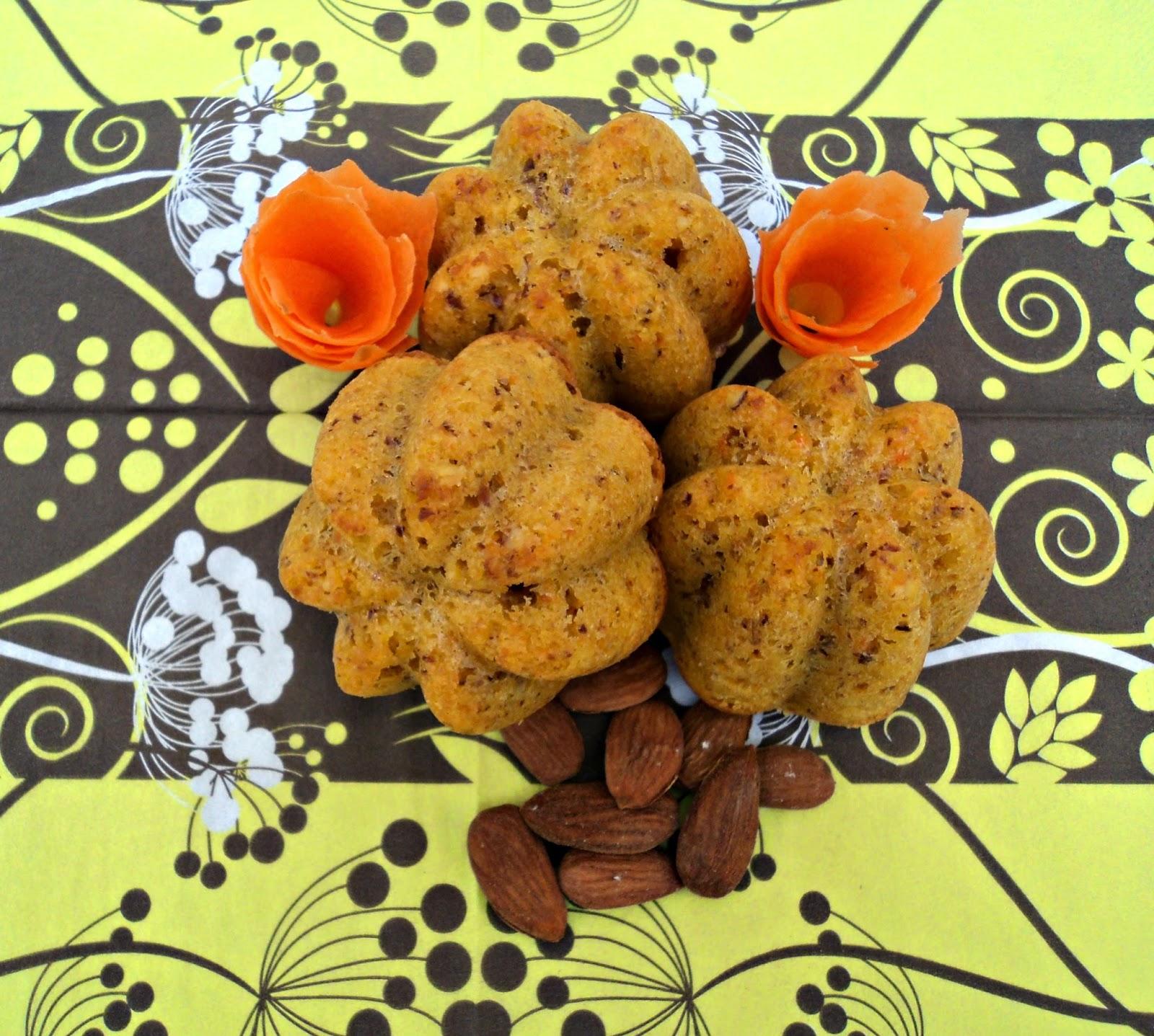 receta casera bundt bizcocho zanahoria almendra