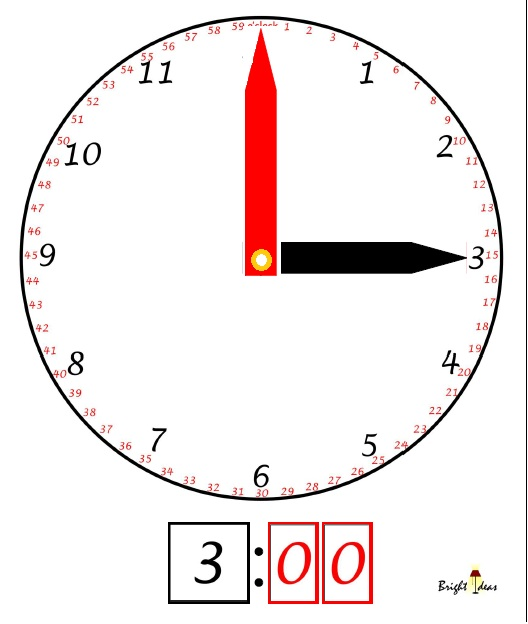 how to read a clock practice