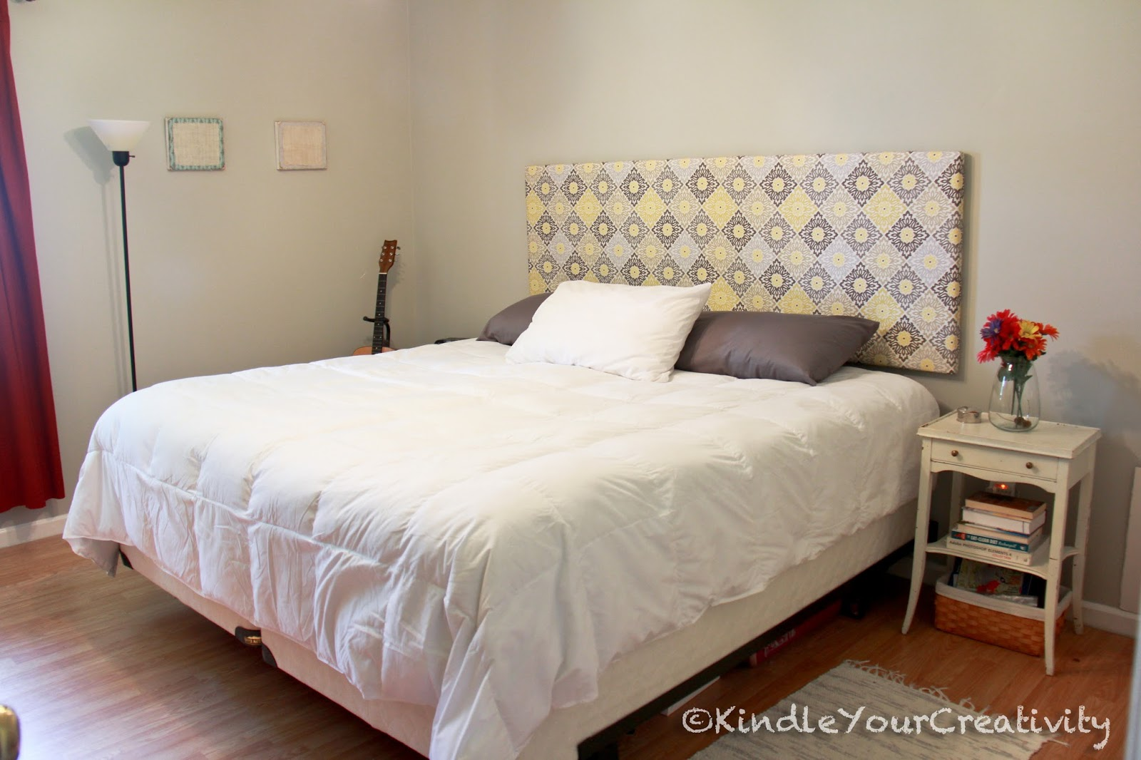 kindle your creativity master bedroom redo diy fabric headboard