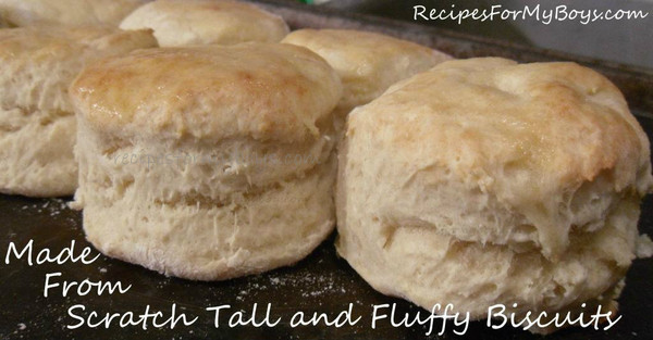Tall and Fluffy Biscuits Made From Scratch