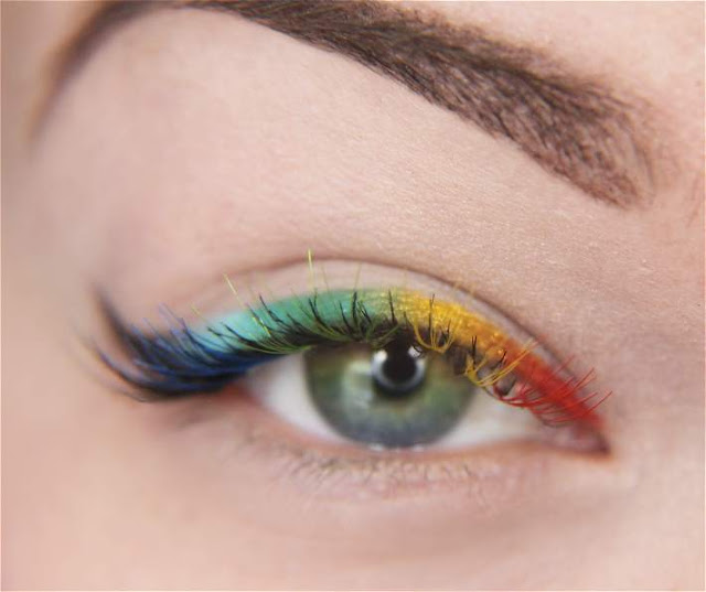 Makeup your Jangsara: Tutorial: Rainbow li(me cri)m/ner