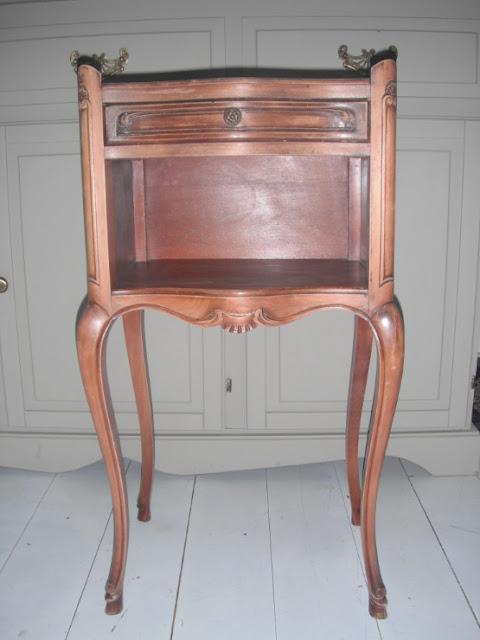 vintage French bedside cabinet