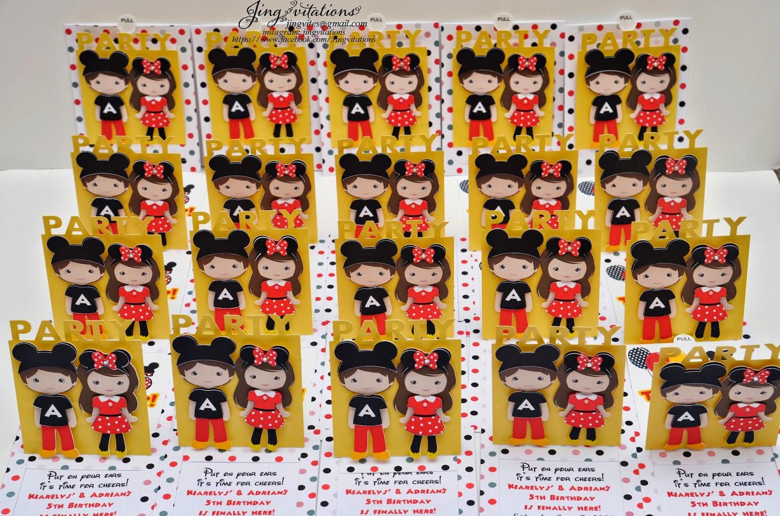 handmade mickey mouse invitations