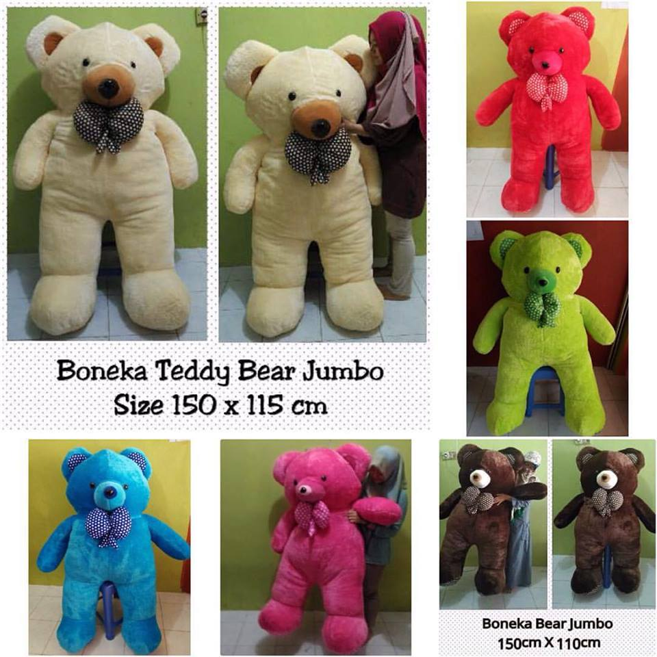 PUSAT GROSIR BONEKA TEDDY BEAR SUPER JUMBO