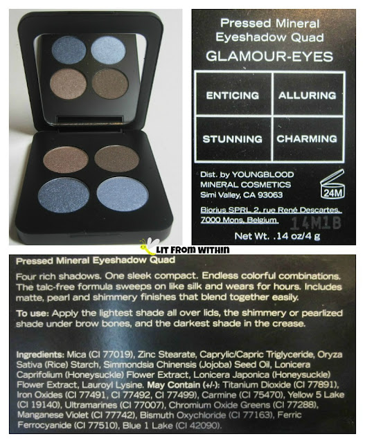 Youngblood Glamour Eyes Eyeshadow Quad