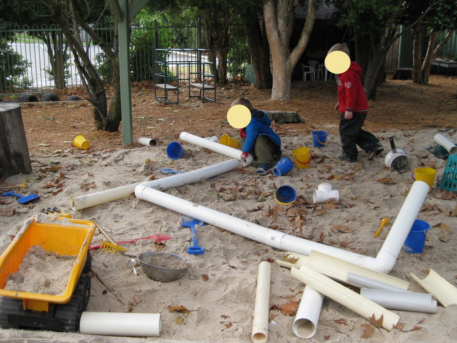 Sandpit engineers flights of whimsy for Best water pipe for outside