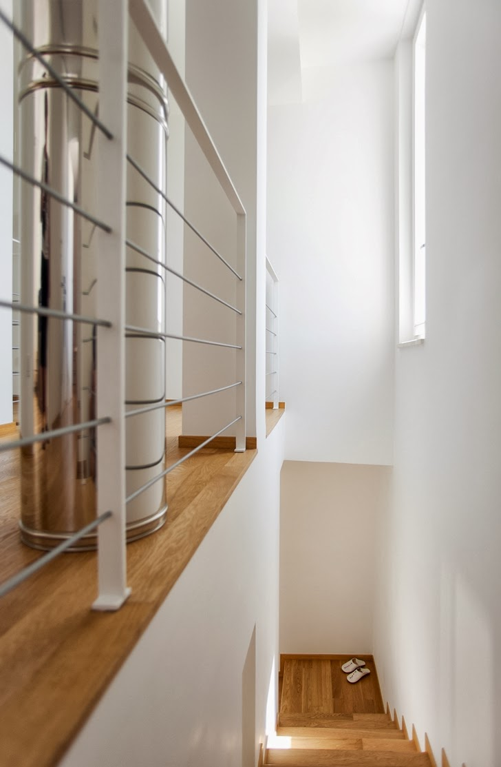 Stairs in Modern villa Di Gioia by Pedone Working