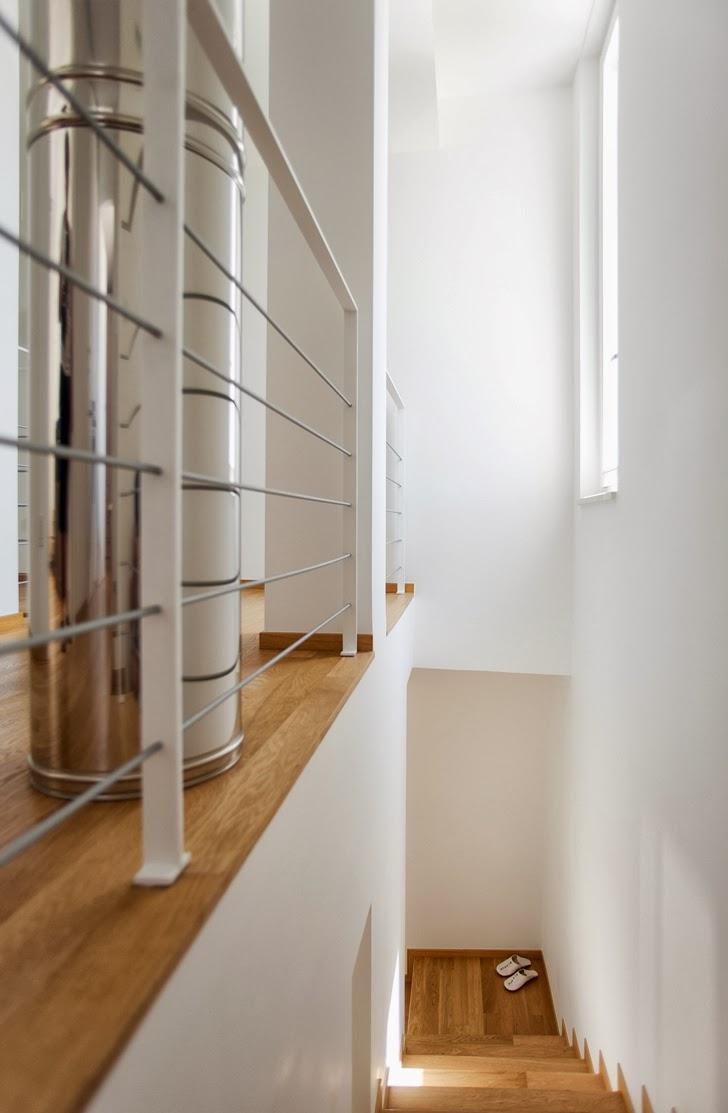 Stairs in Modern villa Di Gioia by Pedone Working