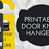 Printable Door Knob Hangers!