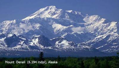 Mount  Denali  (6.194 mdpl), Alaska