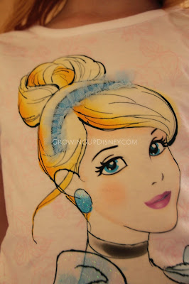Growing Up Disney, Disney Princess, Disney clothes at Macy's, Cinderella tee