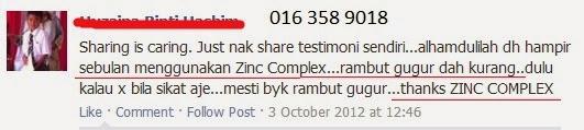 Testimoni Zinc Complex