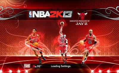 NBA 2K13 Chicago Bulls '98 Big 3 Startup Screen Mod