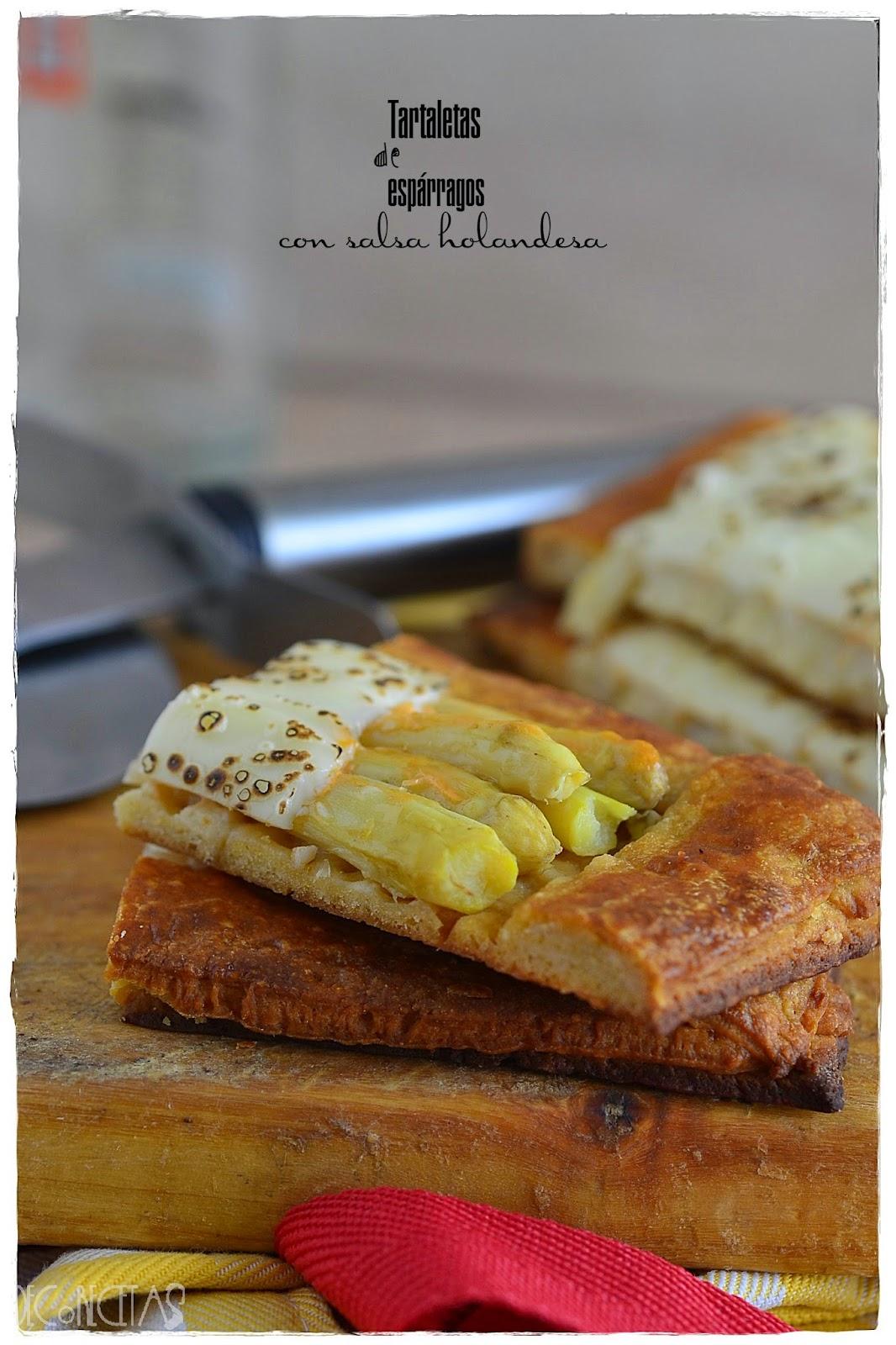 Tartaleta de espárragos con salsa holandesa