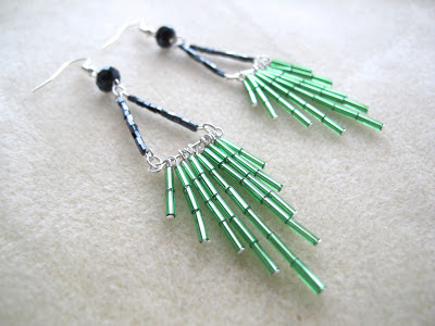 Vintage 1920's style earrings