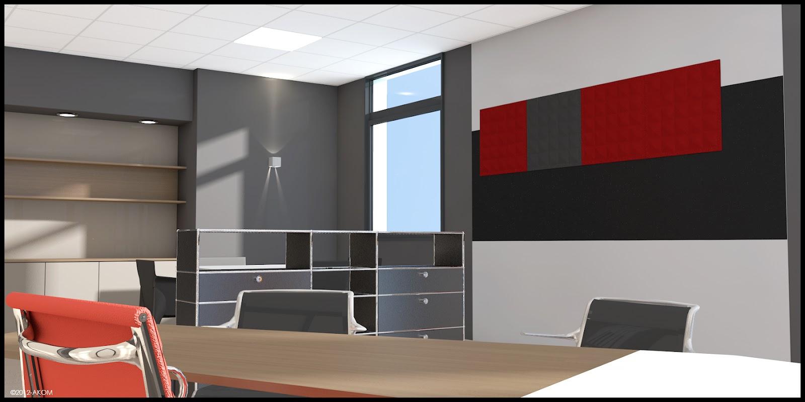 Am nagement 3d bureau dg akom design for Amenagement interieur 3d