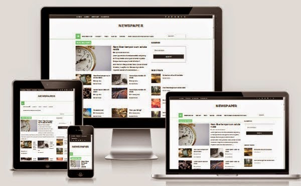 Template Blog Newspaper Responsive