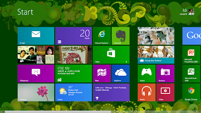 Tampilan start menu di windows 8