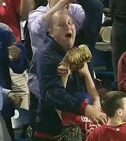 Phillies fan catches ball, son celebrates