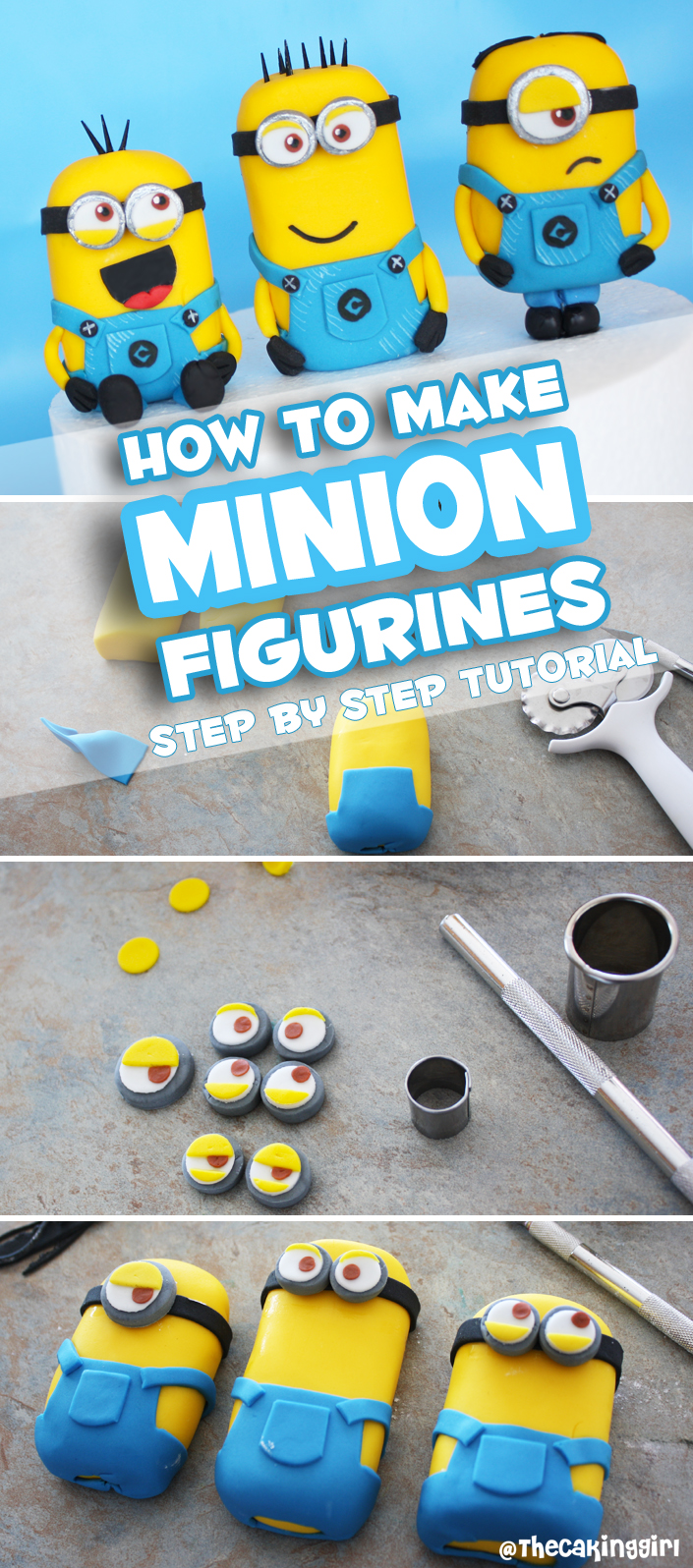 Thecakinggirl how to make minion figurines tutorial minion pinterest how to make a minion baditri Image collections